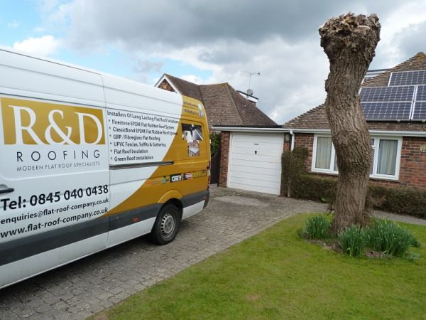 R&D Roofing Van