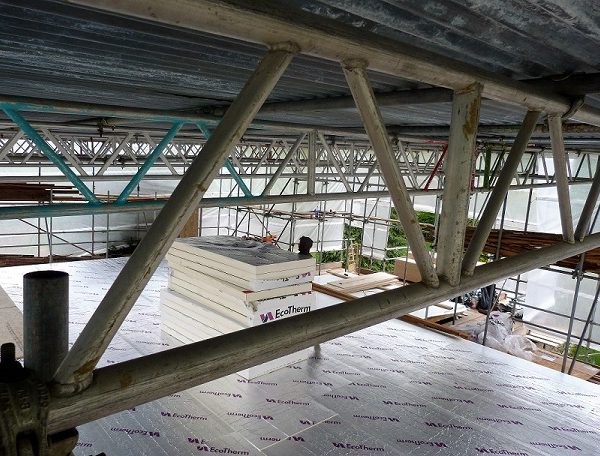 Insulating the roof with ecotherm